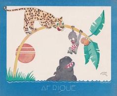 Aux Galeries Lafayette - Buvard- Les Colonies Françaises N° 1 AFRIQUE Illustration Marcel Arnac - Blotters