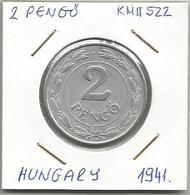 C1 Hungary 2 Pengo 1941. KM#522 - Hungary