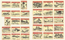 Belgium 30 Old Matchbox Labels - Matchbox Labels