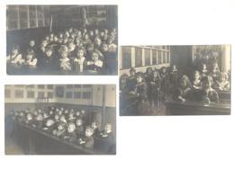 Lot De 3 Photos Cartes - Guerre 14/18 WWI - LIEGE, Classe, école Des Soeurs, Enfant, Garçon, Fillette, Fille  (1844) B68 - Schools