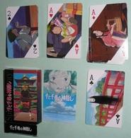 Rare Jeu De 54 Cartes Manga Japanim, Dessins Animés Japonais Japon, As De Pique Ace Of Spade Jokers - 54 Cards