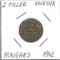 C3 Hungary 2 Filler 1942. KM#518 - Hungary