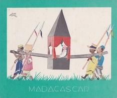 Aux Galeries Lafayette - Buvard- Les Colonies Françaises N° 6 MADAGASCAR -  Illustration Marcel Arnac - Blotters