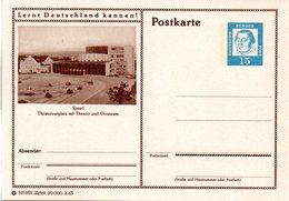 """BRD Bildpostk. Lernt Deutschland Kennen! """"Wz 15(Pf) Martin Luther, Blau, P81 315053 22/161 """"Kassel"""" Ungebraucht - [7] Federal Republic"""