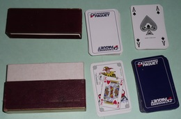 Rare Coffret De 2 Jeux De Cartes Publicitaires, Pub Croisières PAQUET, Compagnie Maritime - 54 Cards
