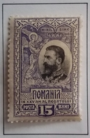 1906 ROUMANIE Y&T 186 King Karl I / 25th Anniv. Of The Kingdom Of Romania / Neuf Recto Verso - 1881-1918: Carol I