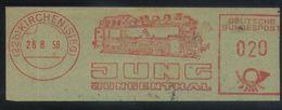 D07 - Germany - 1958 - EMA / Meter Cancel - Kirchen - Jung Jungenthal Steam Locomotive Railways - Eisenbahnen