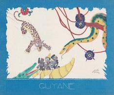 Aux Galeries Lafayette - Buvard- Les Colonies Françaises N° 7 GUYANNE -  Illustration Marcel Arnac - Blotters