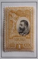 1906 ROUMANIE Y&T 182 King Karl I / 25th Anniv. Of The Kingdom Of Romania / Neuf Recto Verso - 1881-1918: Carol I