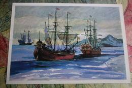 Sebastian Cabot (explorer) , Geographical Discoveries  - OLD USSR PC 1979 - Sailing Ship - Venezia (Venice)