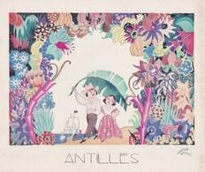 Aux Galeries Lafayette - Buvard- Les Colonies Françaises N° 8 ANTILLES -  Illustration Marcel Arnac - Blotters