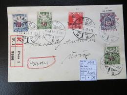 "1919  "" Schnittertyp+Karl ""  + 150 Auf 15 In Rot,  RECO PECS 1,     LOT 1004 - Baranya"