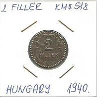 C4 Hungary 2 Filler 1940. KM#518 - Hungary