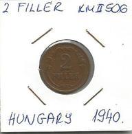 C4 Hungary 2 Filler 1940. KM#506 - Hungary