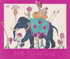 Aux Galeries Lafayette - Buvard- Les Colonies Françaises N° 10 INDE FRANÇAISE -  Illustration Marcel Arnac - Blotters