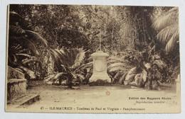 CPA Ile Maurice Tombeau De Paul Et Virginie Paplemousse Jacques-Henri Bernardin De Saint-Pierre - Mauritius