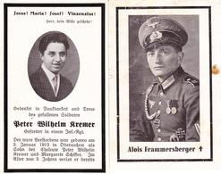 6  AVIS DE DECES ALLEMAND STERBEBILD MORTUAIR MILITAIR SOLDAT DOODSPRENTJE DEATH CARD  WW2 GESNEUVELD - 1939-45