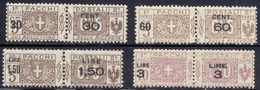 1923-25 PACCHI POSTALI SOPRASTAMPATI NUOVI* LEGGERA TRACCIA DI LINGUELLA - MVLH VERY FINE - Pacchi Postali