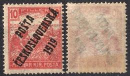 1919 Czechoslovakia Czechoslovakia Tschechoslowakei Occupation Hungary Posta Ceskoslovenska Mi. 124 Harvester MH 10 Fill - Unused Stamps