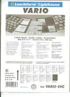 Leuchtturm - Feuilles VARIO 4 VC (Télécartes) (5) - Fond Transparent - Matériel
