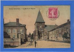 08 ARDENNES - VONCQ La Mairie Et L'Eglise, Carte Toilée (voir Descriptif) - France