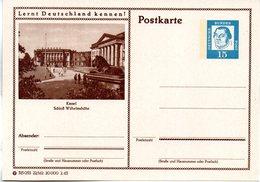 """BRD Bildpostk. Lernt Deutschland Kennen! """"Wz 15(Pf) Martin Luther, Blau, P81 315053 22/162 """"Kassel"""" Ungebraucht - [7] Federal Republic"""