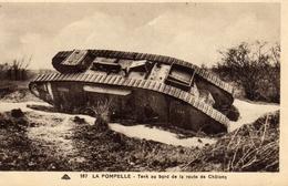 LA POMPELLE - CHAR Sur La Route De Chalons -1ère Guerre Mondiale - Marne - 51 - 1914 - 1918 - B07 - Francia