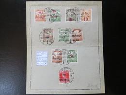 "1919  "" Schnittertyp ""  ZART-LEVELEZÖ-LAP In Karminrot, PECS 21. JAN 30,   LOT 1008 - Baranya"