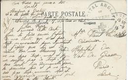 Nevers (Nièvre) - CP 1915 HOPITAL ANGLAIS DE NEVERS - Poststempel (Briefe)