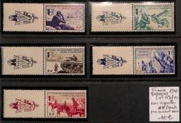[822210]France 1942 - N° 6/10, Bodorino, LVF Avec Vignettes, Peu Courant Ainsi, Militaria, Chevaux, Tank - Militaria
