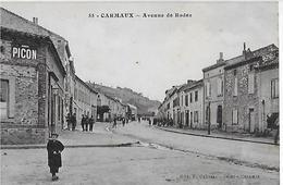 CARMAUX : Avenue De Rodez (1933) - Carmaux