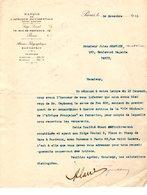 COURRIER Du 14/11/1911 De LA BANQUE De L'AFRIQUE OCCIDENTALE à MTRE CHAVANE Notaire - France