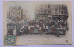 TOURS-Place Du Grand Marché Au Beurre-Carte Couleur - Tours