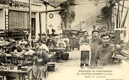 38 IZEAUX - Fabrique De Chaussures E. FAVON-DAMPS Et Cie - Atelier De Confection - GROS PLAN TRÈS ANIMÉ - SUPER - France