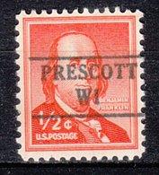 USA Precancel Vorausentwertung Preo, Locals Wisconsin, Prescott 882 - Vorausentwertungen