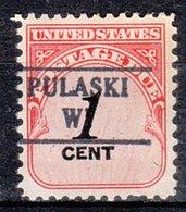 USA Precancel Vorausentwertung Preo, Locals Wisconsin, Pulaski 882 - Vereinigte Staaten