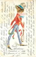 Chat Humanisé Avec Mandoline En 1904 - Gatti