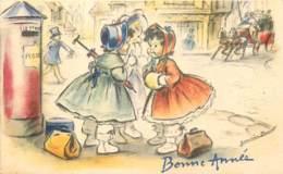 Illustrateur GERMAINE BOURET - Mignonette 11 X 7 Cm - Bonne Année 3 - Bouret, Germaine