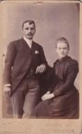 ANTIQUE CDV PHOTO.  YOUNG COUPLE. WHITEHAVEN STUDIO - Photographs