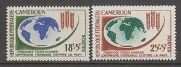 PAIRE NEUVE DU CAMEROUN - CAMPAGNE MONDIALE CONTRE LA FAIM N° Y&T 365/366 - Contro La Fame