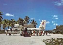 Polynésie Française MAUPITI L'aéroport De L'île-BV (avion Airport Air Polynésie)  (Photo Erwin Christian 253 )*PRIX FIXE - Polynésie Française