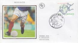 Enveloppe  FDC  1er  Jour  MONACO   COUPE  DU  MONDE  De  FOOTBALL   2002 - 2002 – Corea Del Sur / Japón