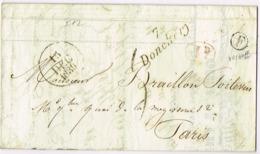 Ar13-  Cursive 7/  DONCHERY   Ardennes Boite Rurale F Vrigne Aux Bois Dateur De 1839 - Postmark Collection (Covers)