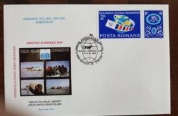 ROUMANIE Theme Polaire.  EXPEDITION POLAIRE 1989-90 Dominique Elin. Cachet Temporaire 21/3/91 - Events & Gedenkfeiern