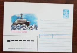 RUSSIE Theme Polaire. 1 Entier Postal Illustré Brise Glace 1989 - Polar Ships & Icebreakers