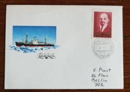 RUSSIE-URSS Theme Polaire. Une Valeur Non Dentelé Sur Lettre Avec Cachet, LENINE - Expéditions Arctiques