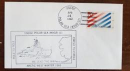 ETAT UNIS Theme Polaire. Cachet USCGC POLAR SEA (WAGB 11) Artic West Winter 1983 (23) - Antarktis-Expeditionen