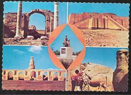 Cpm St004225 Irak Iraq Bagdad 4 Vues Non Situées Sur Carte , Timbres Collections 2 - Iraq