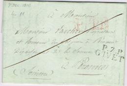 Ar14- P.7.P. / GIVET  Ardennes  1816 - 1801-1848: Precursors XIX