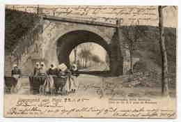 MONTIGNY LES METZ NELS  1905 BAHNÜBERGANG HINTER MONTIGNY PONT DU CHEMIN DE FER - France